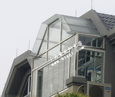 双面平折顶阳光房